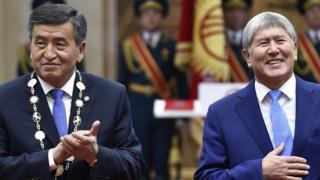 Президенты Кыргызстана Жээнбеков и Атамбаев