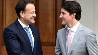 Leo Varadkar and Justin Trudeau in Dublin