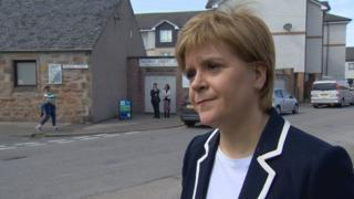 "Nicola Sturgeon said the 50p tax rate was ""under review"""