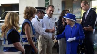 The Queen meets police and volunteers