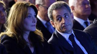 Ex-President Nicolas Sarkozy with his wife Carla Bruni