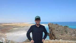 Henrik Jeppesen en la isla de Socotra, Yemen, frente a las costas del Cuerno de África