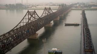 The border between China and North Korea