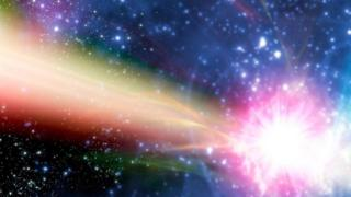 Una luz en el espacio exterior