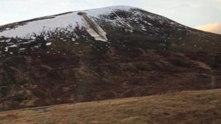 Avalanche debris at Drumochter