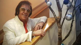 Wynne Roberts dressed as Elvis