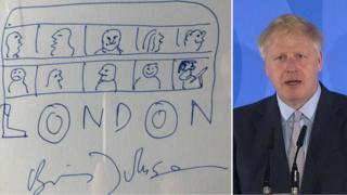 Boris Johnson and his drawing