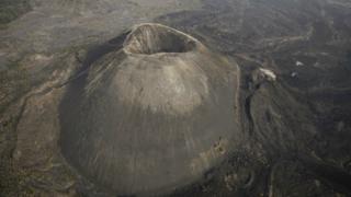 Foto aérea del volcán Paricutín.