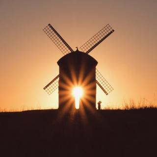 Silhouette of a mill