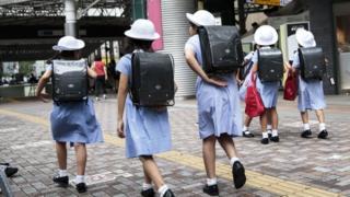 Schoolgirls in Tokyo