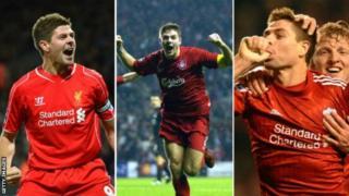 Steven Gerrard wuxuu kooxda Liverpool u dhaliyay 186 gool