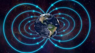 Illustration of the Earth's magnetic field