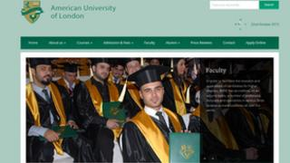 The American University of London website