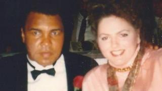 Muhammad Ali with Stephanie Meade in Seattle in 1992