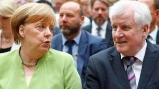 Angela Merkel (left) and Horst Seehofer. Photo: 20 June 2018