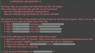 How Locky appears on screens
