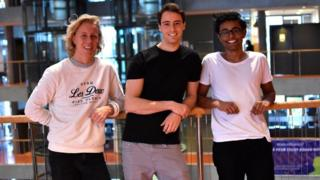 Three founders of Hold, from left to right - Maths Mathisen, Florian Winder and Vinoth Vinaya