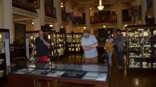 Büyük Salon'da yer alan müze