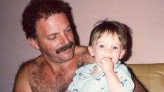 Lou Haslam with his son Dan as a baby