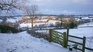 Ворота на поле в Глостершире
