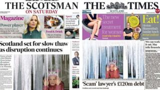 Scotsman and Times front pages