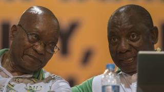 Jacob Zuma and Cyril Ramaphosa