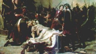 """""""Мирович перед телом Ивана VI"""" (автор Иван Творожников, 1884 год)"""