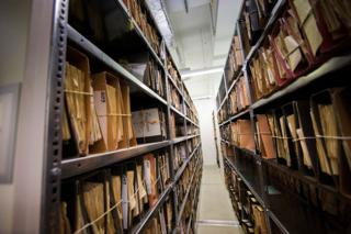 Files at the Stasi museum
