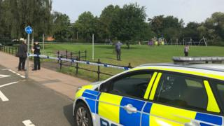 Police cordon close to where man was found