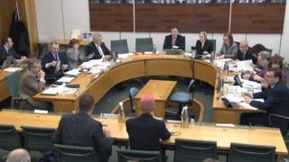Christopher Wylie giving evidence to MPs