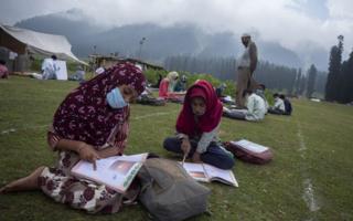 , Kashmir's open-air classes offer stunning solution to lockdown