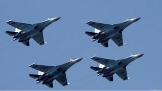 The sanctions relate to China's purchase of 10 Russian Sukhoi Su-35 fighter jets