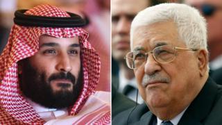 Veliaht Prens Muhammed bin Selman ile Mahmud Abbas