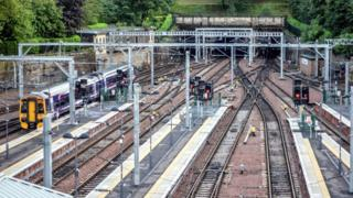 Train tracks at Edinburgh Waverley