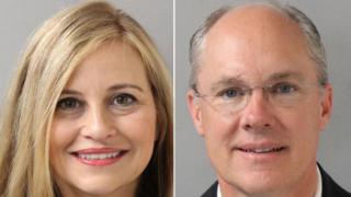 Former Nashville Mayor Megan Barry (L) and former Sgt Rob Forrest (R)