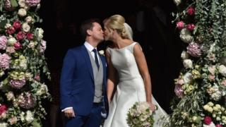 Declan Donnelly and new wife
