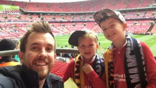 Dan Humphries with sons Liam and George