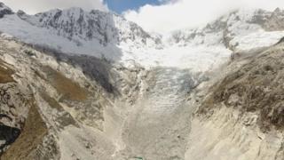 science Llaca glacier
