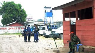 Vue de la prison Makala à Kinshasa gardée par la police et les soldats des Nations-Unies (illustration).