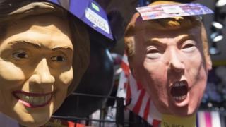 ہلیری کلنٹن اور ڈونلڈ ٹرمپ کے حامیان