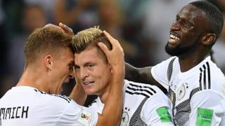 Toni Kroos' winner for Germany against Sweden helped the defending champions prospects of qualifying for the knock-out stages