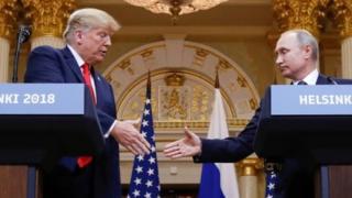 트럼프 대통령과 푸틴 대통령은 지난 16일 핀란드 헬싱키에서 정상회담을 가졌다