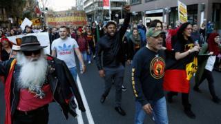 Hundreds of demonstrators gather in major cities across Australia