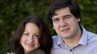2014 file photo showing award-winning concert pianist Vadym Kholodenko and his wife Sofya Tsygankova
