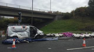 Beer lorry crash