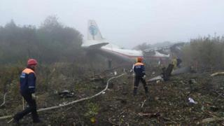 An-12 which crash-landed near Lviv, 4 Oct 19