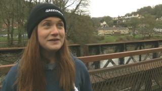 Bonnie Wright on the River Wye
