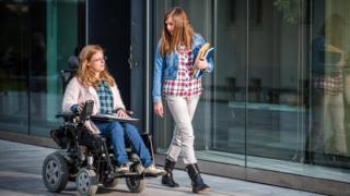 female wheelchair user