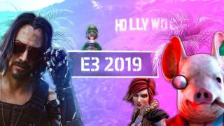 Keanu Reeves and other characters from E3