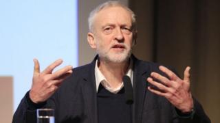 Jeremy Corbyn addressing the Fabian Society